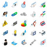 Technology of the future icons set Royalty Free Stock Image