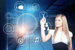 Technology, future and interface concept Stock Images