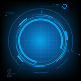 Technology futuristic circuit digital background and space center for your text, Vector & illustration Stock Images