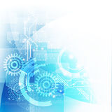 Technology futuristic digital background with gear and circuit Royalty Free Stock Images
