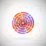 Technology futuristic HUD interface. Abstract background. Royalty Free Stock Photography