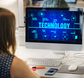 Technology Futuristic Innovation Invention Connection Concept royalty free stock photo