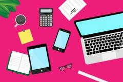 Technology, Gadget, Communication, Magenta stock image