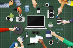 Technology Gadget Media Icons Concept Stock Image