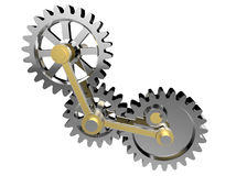 Technology gears - cogs illustration Stock Photos