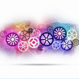 Technology Gears Multicolor Background Stock Photo