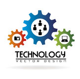 Technology gears Stock Photography