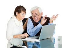 Technology generation gap Royalty Free Stock Photos