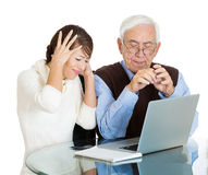 Technology generation gap Stock Photography