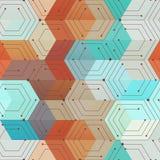 Technology geometric seamless pattern. Eps 10 vector file Vector Illustration