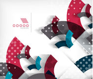 Technology geometric shape abstract background vector illustration