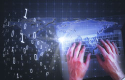 Technology and global communications concept Stock Photos