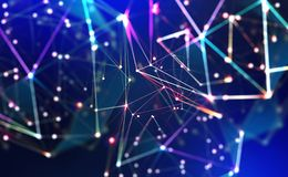 Free Technology, Global Network, Movement In Space And Time. Festive Illumination Royalty Free Stock Image - 167487176