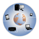 Technology and globalization Stock Images