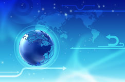 Technology globe background Royalty Free Stock Photography