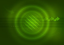 Technology Green Background Stock Photos