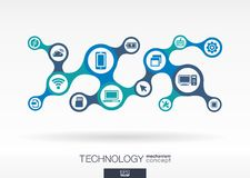 Technology. Growth abstract background with integrated metaball Royalty Free Stock Photos