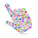 Technology Hand Cursor Stock Photo