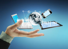 Technology in the hands Royalty Free Stock Photos