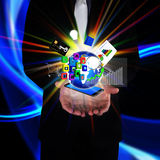 Technology in the hands of businessmen Stock Image