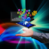 Technology in the hands of businessmen Royalty Free Stock Image