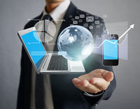 Technology in the hands Royalty Free Stock Image