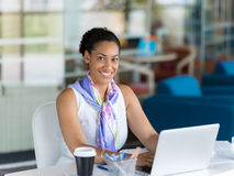 Technology and hard work bring success Stock Photography
