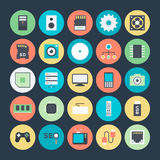 Technology and Hardware Colored Vector Icons 1 Royalty Free Stock Photo