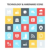 Technology and Hardware Icons. For web design and application interface, also useful for infographics. Vector illustration stock illustration