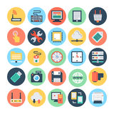 Technology & Hardware 1 Vector Illustration. Here is the collection Technology and Hardware icons set. This icons set is composed to everything related Royalty Free Stock Photos