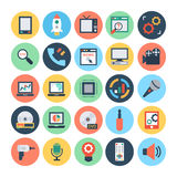 Technology & Hardware 3 Vector Illustration. Here is the collection Technology and Hardware icons set. This icons set is composed to everything related Stock Photo