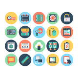 Technology & Hardware 4 Vector Illustration. Here is the collection Technology and Hardware icons set. This icons set is composed to everything related Royalty Free Stock Images