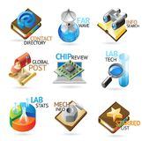 Technology headers Stock Photography