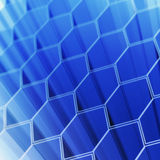 Technology hexagon cells Royalty Free Stock Images