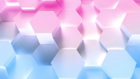 Technology hexagon pattern background stock footage