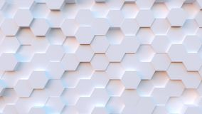 Technology hexagon pattern background stock video footage