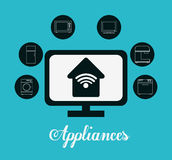 Technology home appliances Stock Image