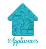 Technology home appliances, vector design Stock Image