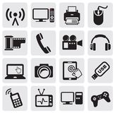 Technology Icon. On Square Button Collection Stock Photography