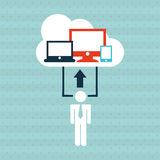 Technology icon design. Illustration eps10 graphic Royalty Free Stock Images