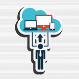 Technology icon design. Illustration eps10 graphic Royalty Free Stock Photography