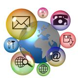 Technology Icon Set Stock Photography