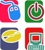 Technology Icon Set Royalty Free Stock Images