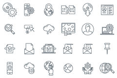 Technology icon set Stock Photo
