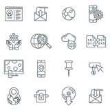 Technology icon set Royalty Free Stock Photos