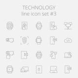 Technology icon set Royalty Free Stock Photos