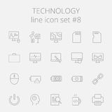 Technology icon set Royalty Free Stock Image