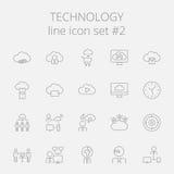 Technology icon set Royalty Free Stock Photo