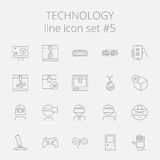 Technology icon set Stock Image