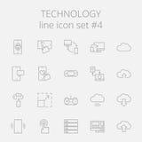 Technology icon set Stock Photography